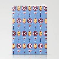 superheroes Stationery Cards featuring Superheroes by Kelslk