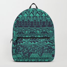 Mountain Tapestry in Midnight Teal Backpack