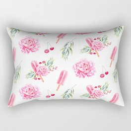 Tropical Chill Rose Rectangular Pillow