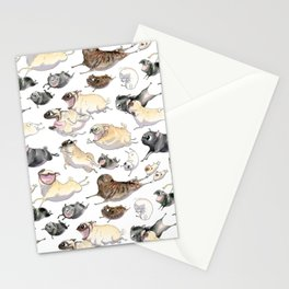 Pugs on the Move Stationery Cards