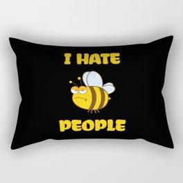 I Hate People Bee Rectangular Pillow