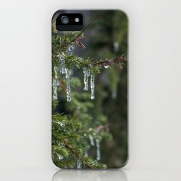 Leafy Icicle Bokeh iPhone Case