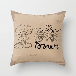 Die Hard Romantic Throw Pillow