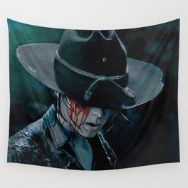 Carl Grimes Shot In The Eye - The Walking Dead Wall Tapestry