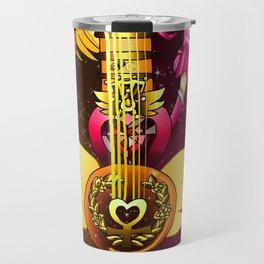 Fusion Sailor Moon Guitar #18 - Sailor Venus & Sailor Chibi Moon Travel Mug