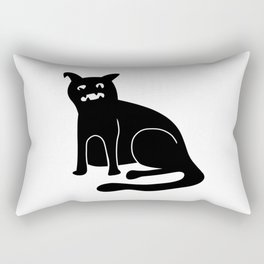 Weird Chonk Cat Black 002 Rectangular Pillow