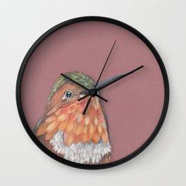 Allen's Hummingbird Portrait Wall Clock