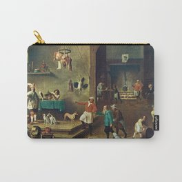 The Kitchen by David Teniers the Younger Carry-All Pouch
