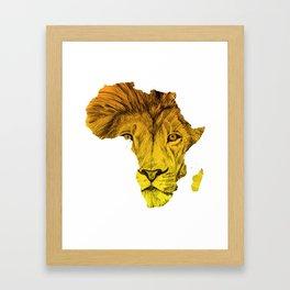 King Of The Jungle! Framed Art Print