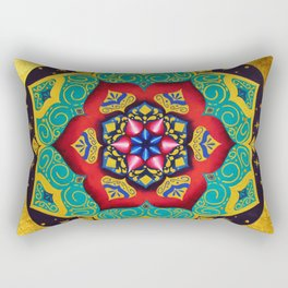 Connection with the universe / Mandala by Ilse Quezada Rectangular Pillow