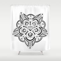 pentagram Shower Curtains featuring Pentagram by Captain Dibbzy