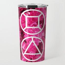 Garnet Candy Gem Travel Mug