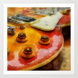 Les Paul Std 1958 Vos Art Print