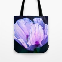 poppy Tote Bags featuring Poppy by CrismanArt