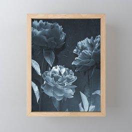 Blue Peonies Framed Mini Art Print