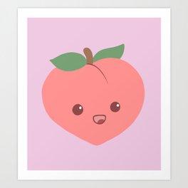 Cute Peach Art Print