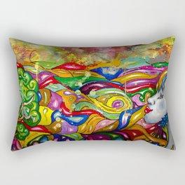 Psychedelic Rectangular Pillow