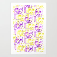 Jack in the Box 2 tone  Art Print