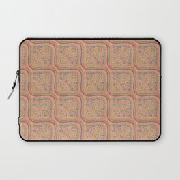 Soft Pastel Watercolor Floral Circles Pattern with a Retro Pop Art Feel Laptop Sleeve