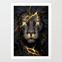 LION-GOLD-ART Art Print