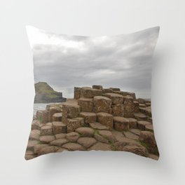 Giant's Causeway stones Throw Pillow