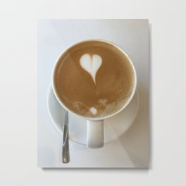Hot Coffee Love Metal Print