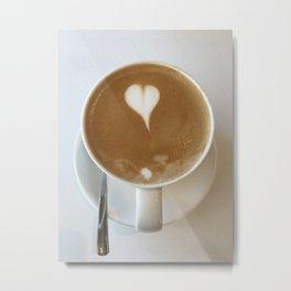 Hot Coffee Love Metal Print