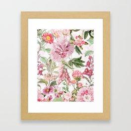 Vintage & Shabby Chic - Botanical Pink Springflowers Meadow Framed Art Print