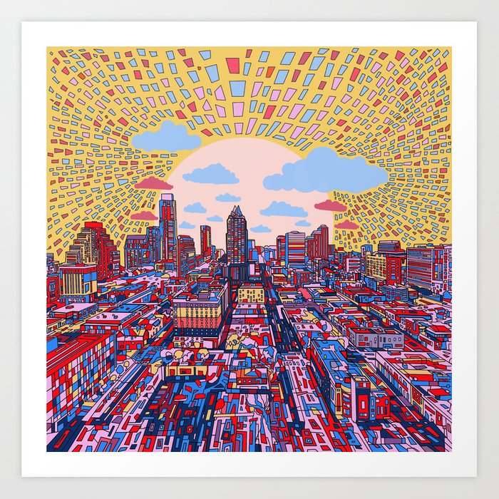 austin texas city skyline Kunstdrucke