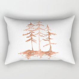 THE THREE SISTERS Trees Rose Gold Rectangular Pillow