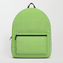 Chartreuse Gingham Backpack