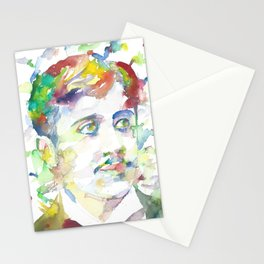 MARCEL PROUST - watercolor portrait.1 Stationery Cards