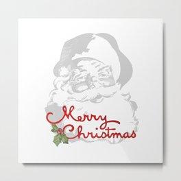 Jolly Santa Merry Christmas Metal Print