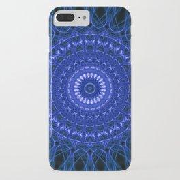 Dark blue mandala iPhone Case