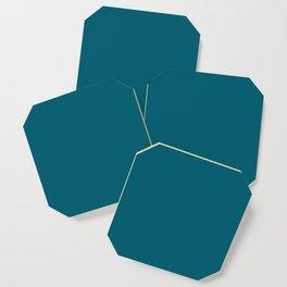 Sherwin Williams Trending Colors of 2019 Oceanside (Dark Aqua Blue) SW 6496 Solid Color Coaster