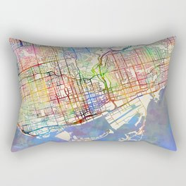 Toronto Street Map Rectangular Pillow