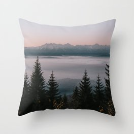 Faraway Mountains - Landscape and Nature Photography Throw Pillow