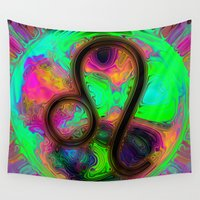 leo Wall Tapestries featuring Leo by Synesthetic