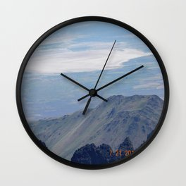 road trip, landscape, killer view, high altitude, mountains, desert, sand Wall Clock