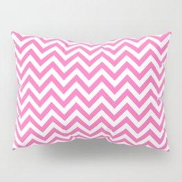 Creamy Pink and White Chevron Pillow Sham