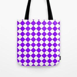 Diamonds - White and Violet Tote Bag