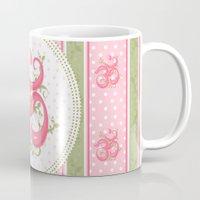 shabby chic Mugs featuring Shabby Chic Om by Genie Wilson
