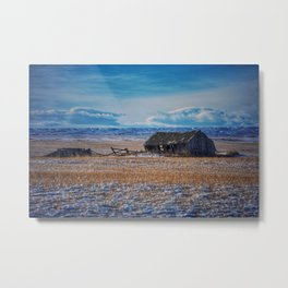 Winter on the prairies Metal Print