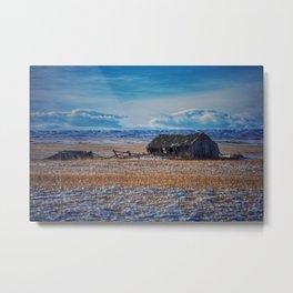 Winter on the prairies Metal Print