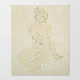 Seated Female Nude, Amedeo Modigliani Canvas Print