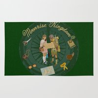 moonrise Area & Throw Rugs featuring Moonrise Kingdom by KelseyMicaela
