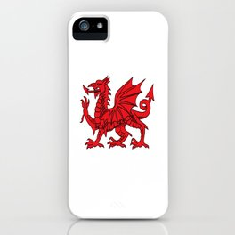 The Red Dragon or Y Ddraig Goch Isolated iPhone Case