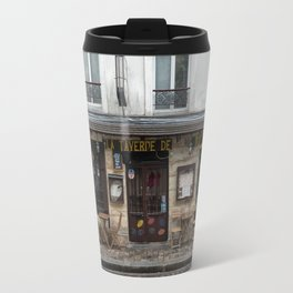 Cafe in Monmartre Paris Travel Mug