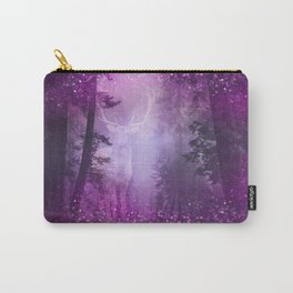 Fairy deer out of the woods mystic pink glitter forrest Carry-All Pouch