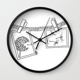 Dandelion in photos Wall Clock
